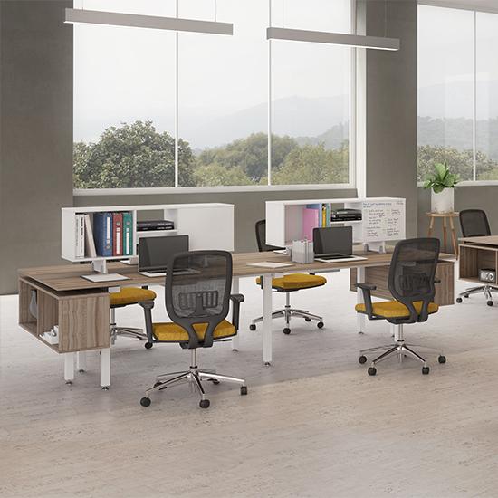 Isla de trabajo 4 personas alicante ofitek for Oficina de empleo alicante